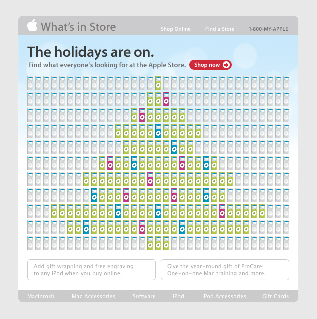 Apple Christmas iPod Email 2010
