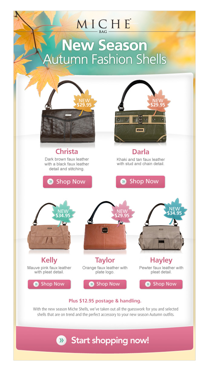 Miche Bag Autumn Seasonal email