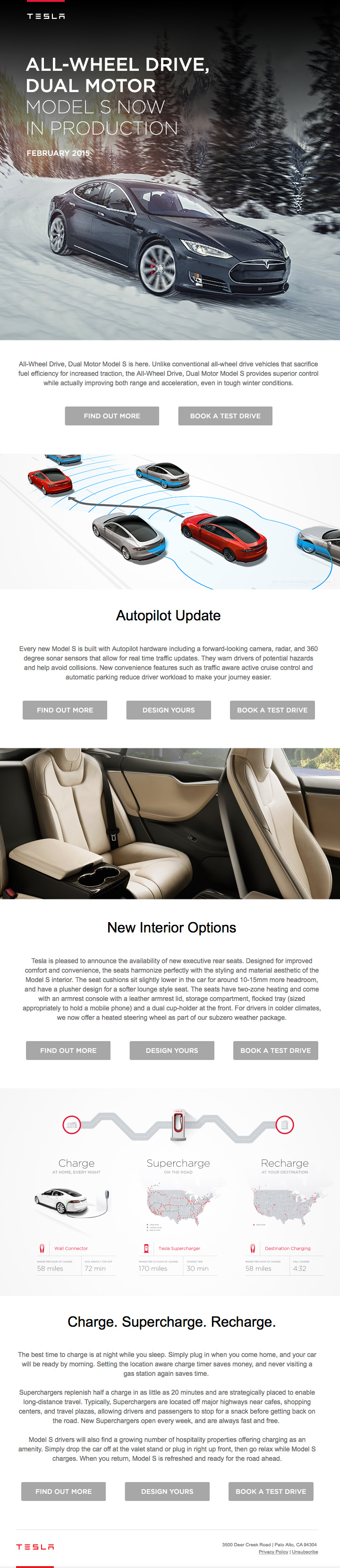 Tesla Upcoming Model Production email
