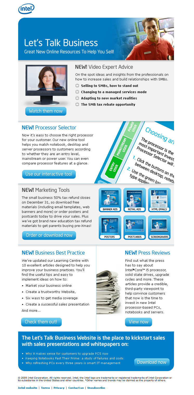 Intel Resources Newsletter 2009