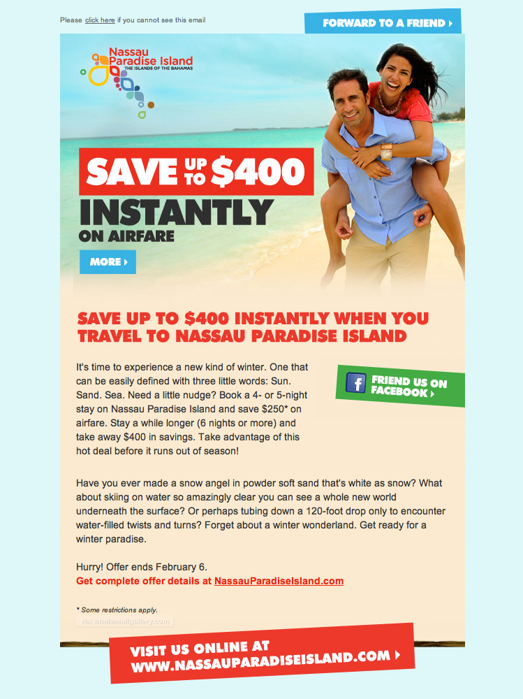 Bahamas Nassau Travel Offer email