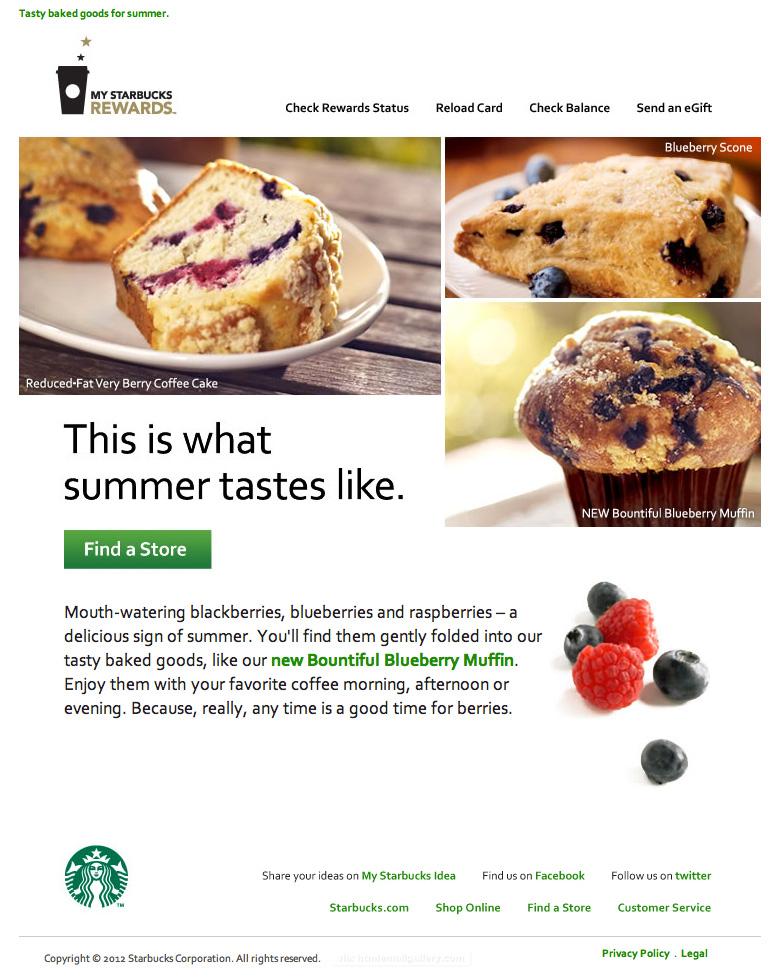 Starbucks Summer Tastes special