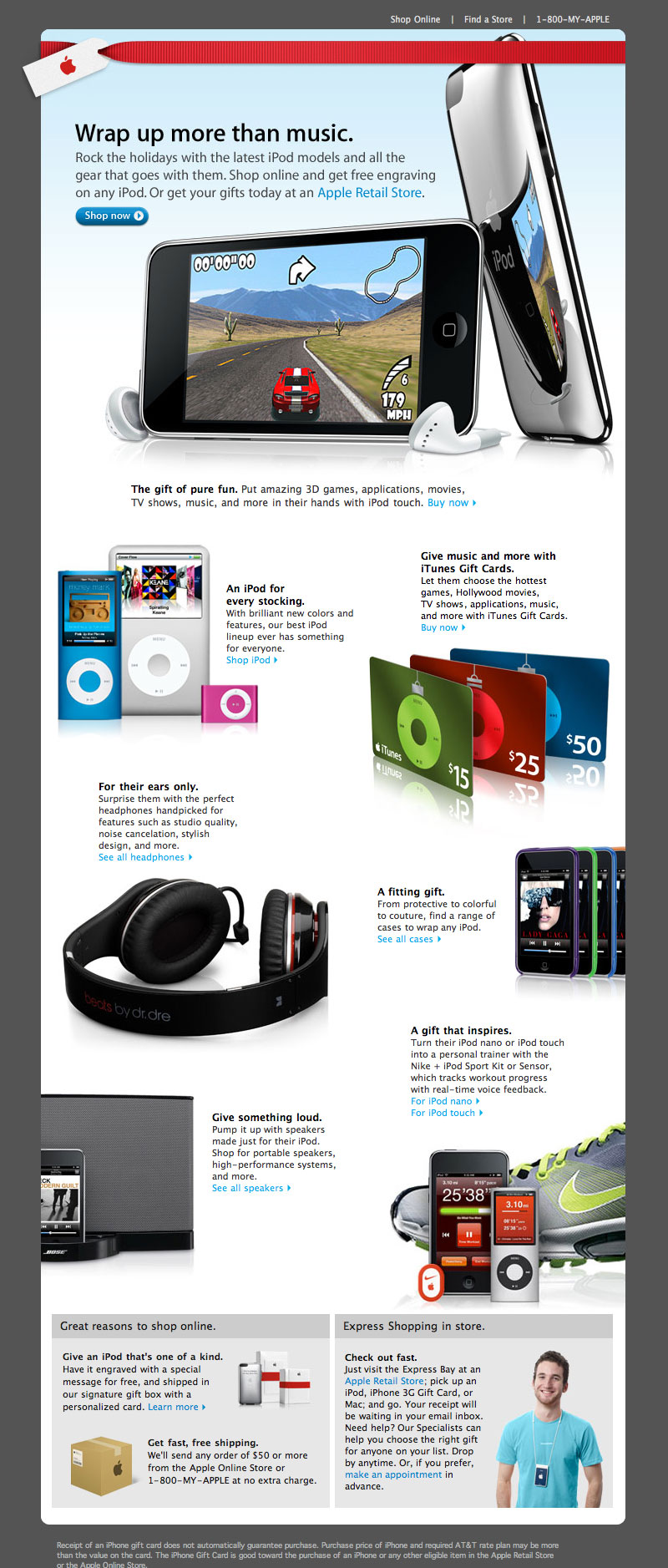 Apple iPod Holiday Email