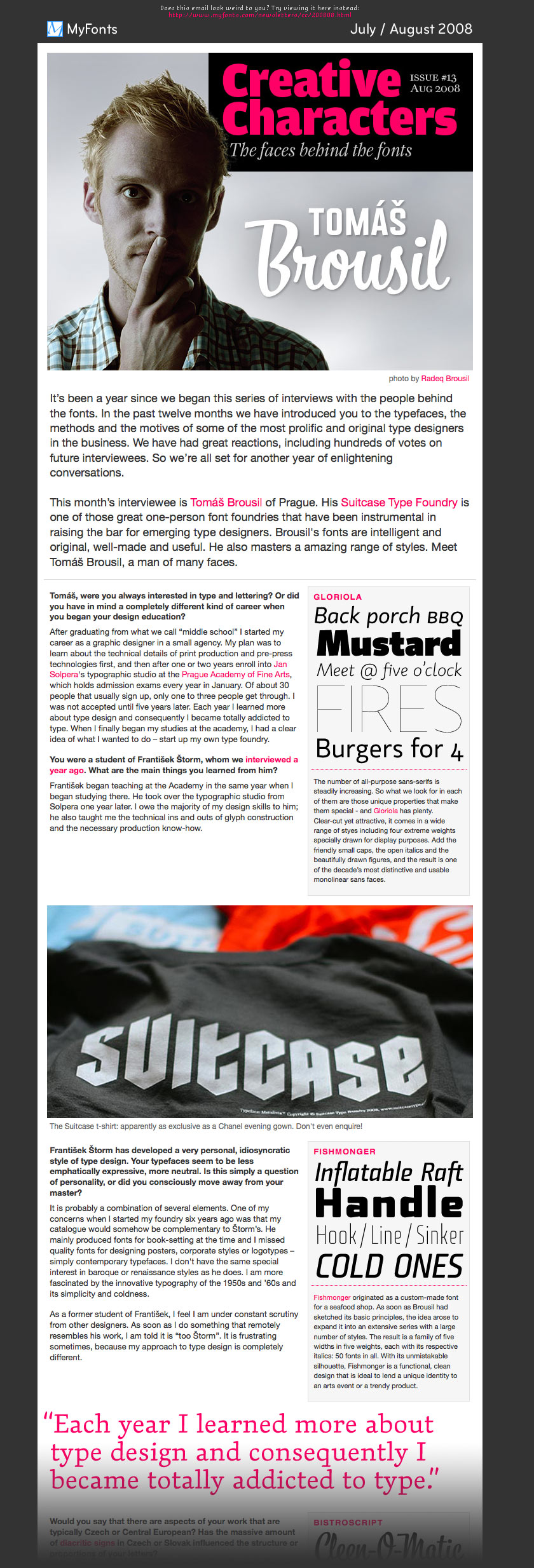 MyFonts Newsletter via 2008