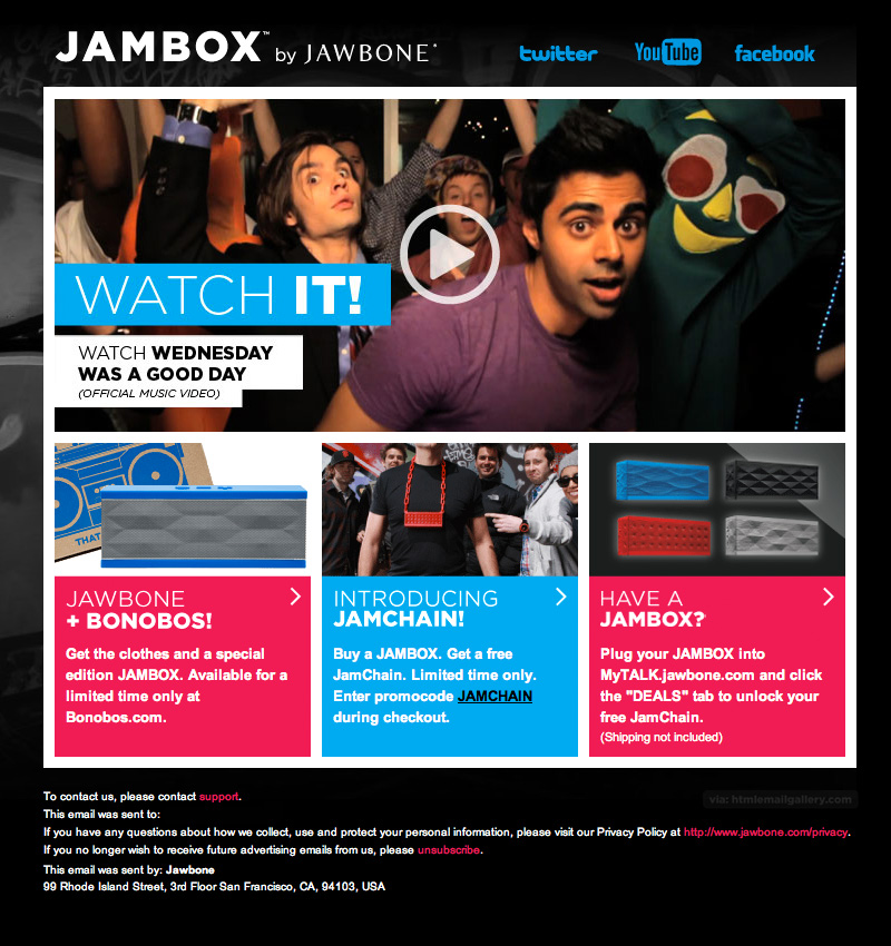 Jambox Watch Wednesday email