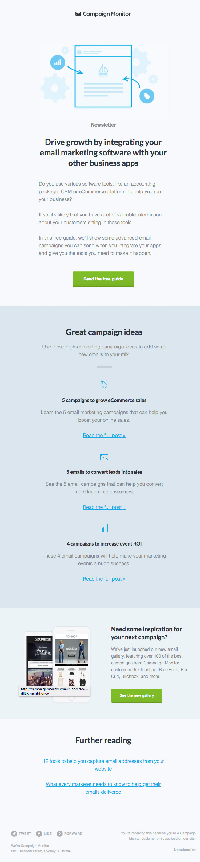 Campaign Monitor Newsletter May 2015