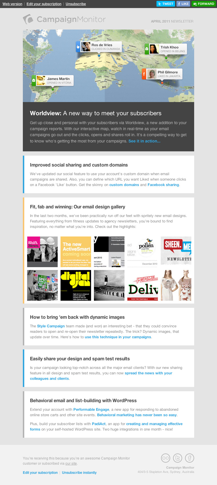 Campaign Monitor Early Responsive email