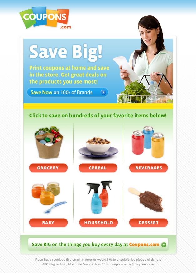 CouponsCom Save Big Email 2010