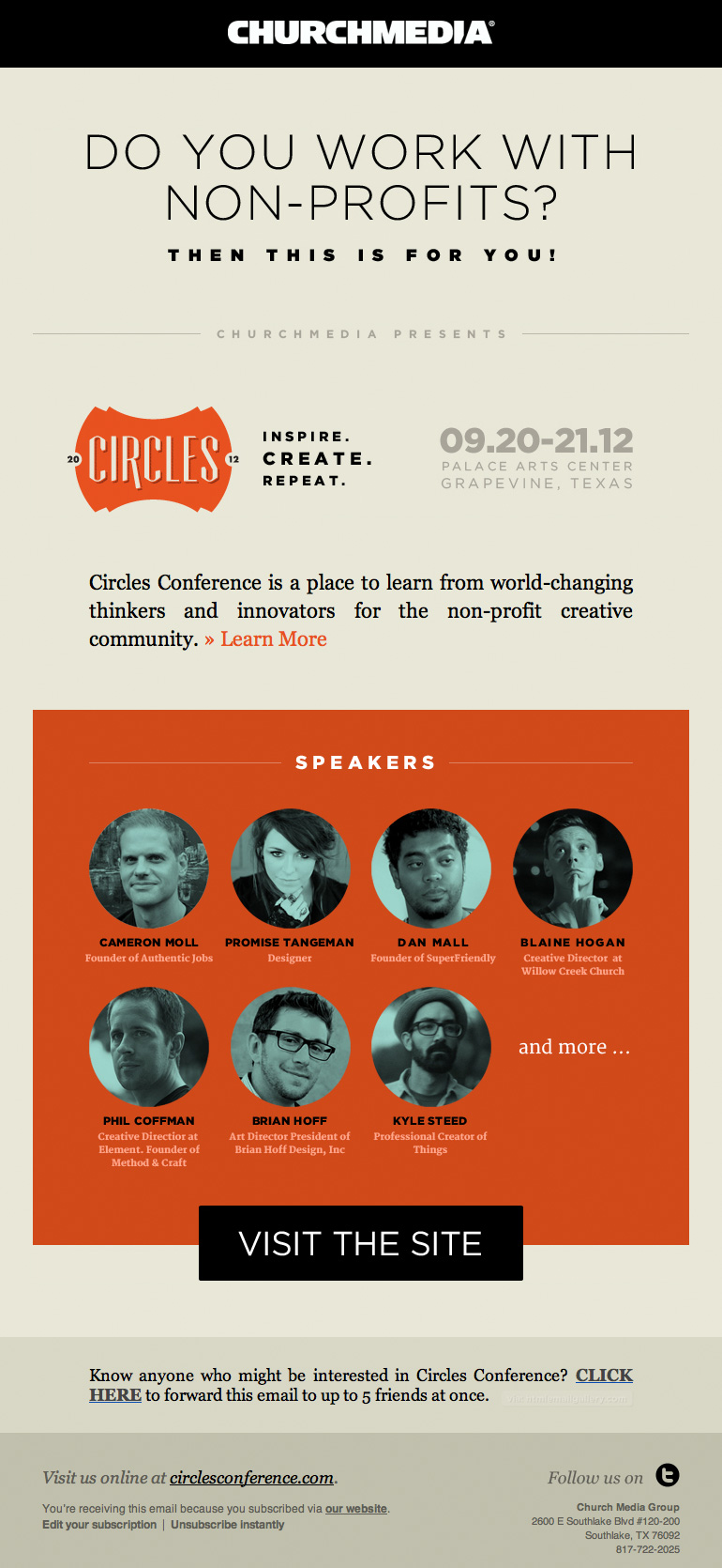 ChurchMedia NonProfit Conference email