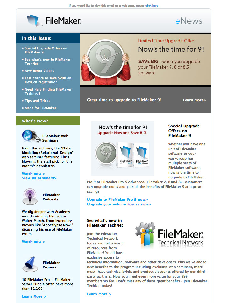 Filemaker-eNews-1 html email