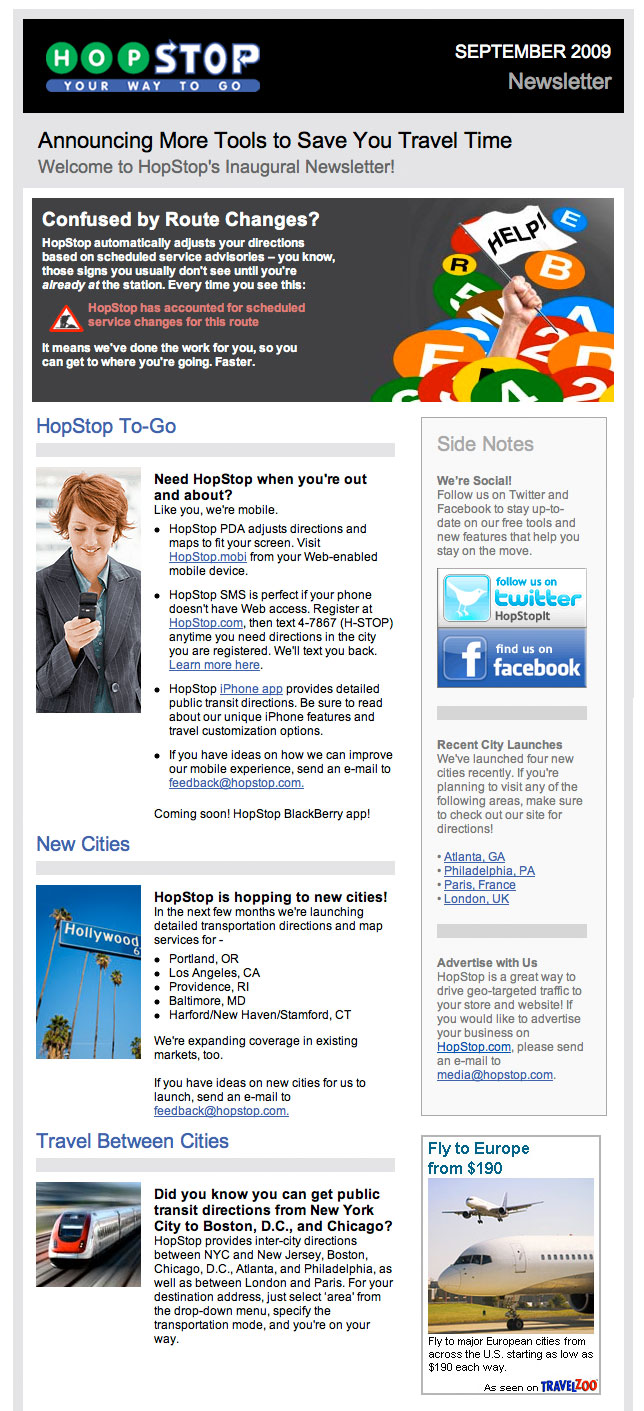 HopStop 2009 Newsletter