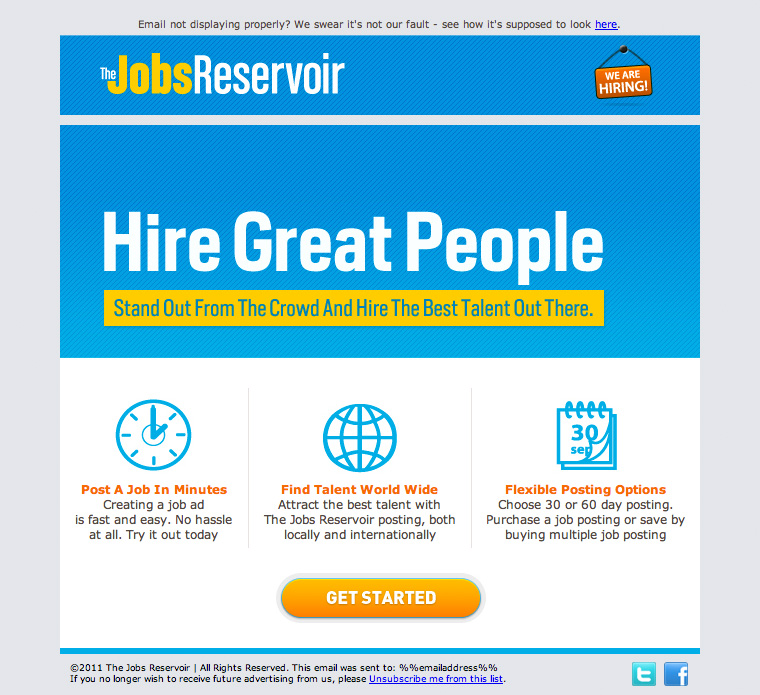 JobsReservoir Hiring Website email