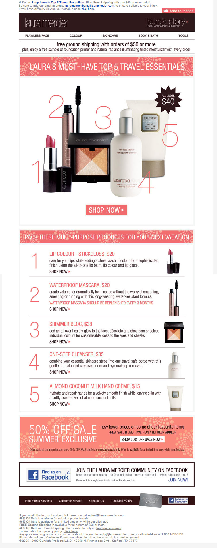Laura mercier sales email html email gallery for Laura mercier on sale