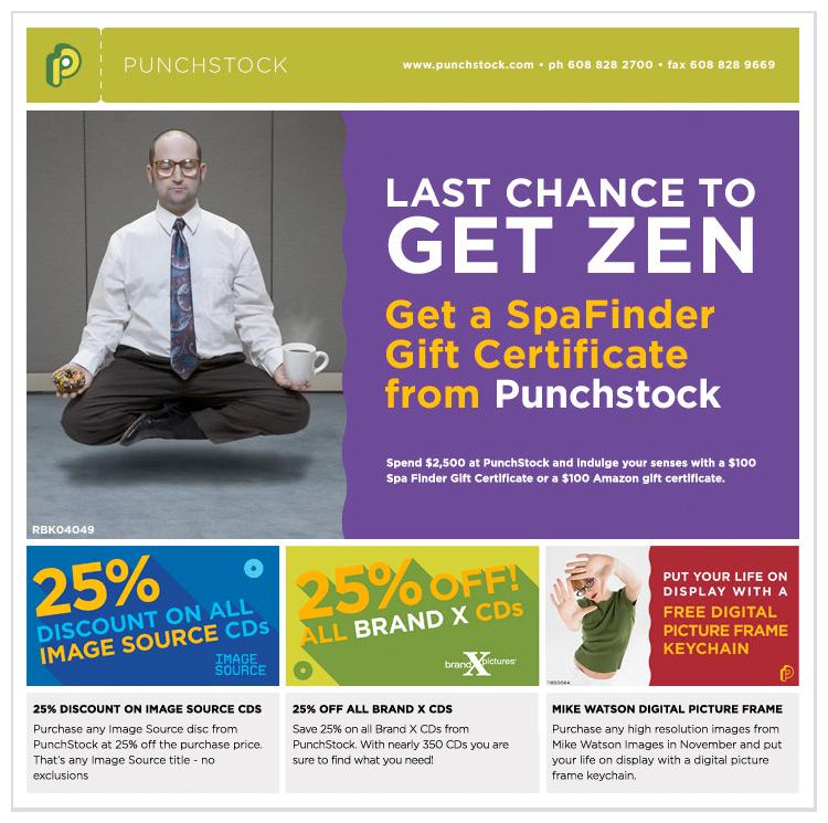Punchstock GetZen html email