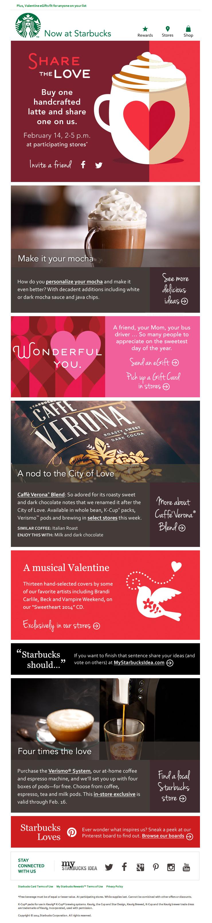 Starbucks Valentines Heart email