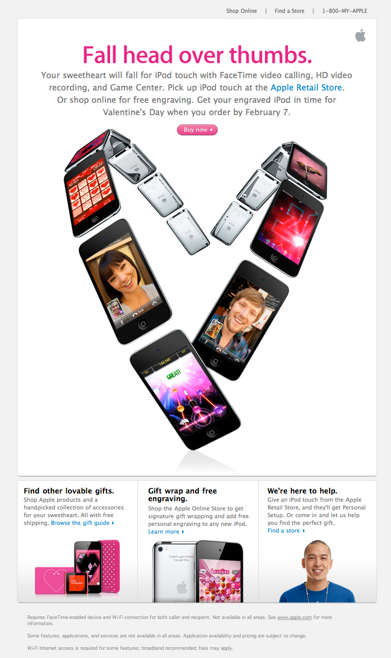 Apple Valentines Day email 2011