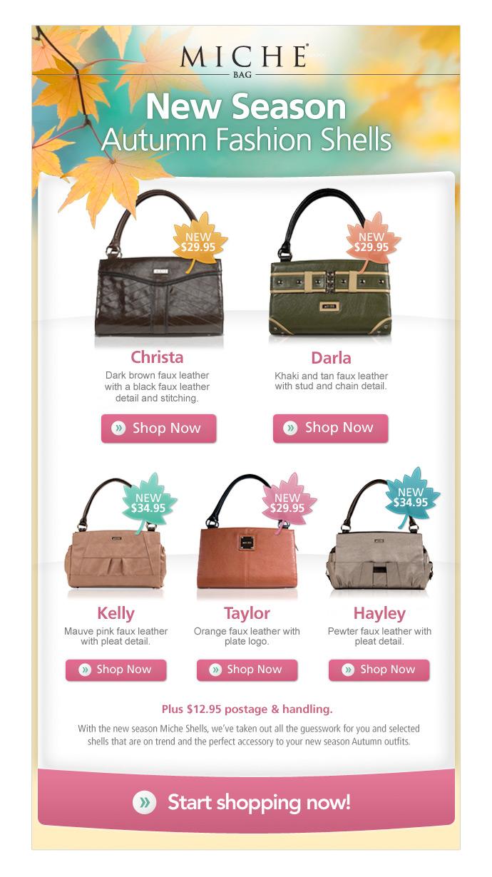 Miche Bag Autumn Seasonal email