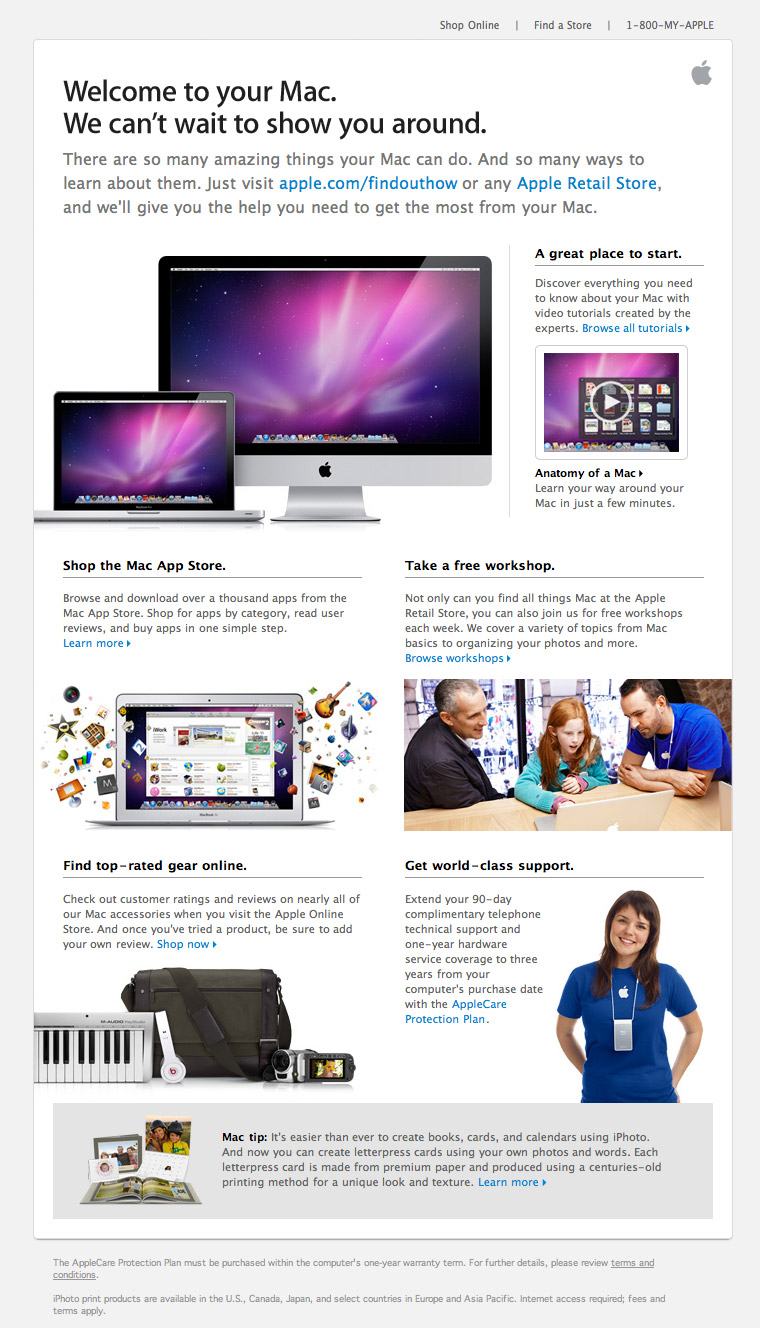 Apple Welcome to your Mac email
