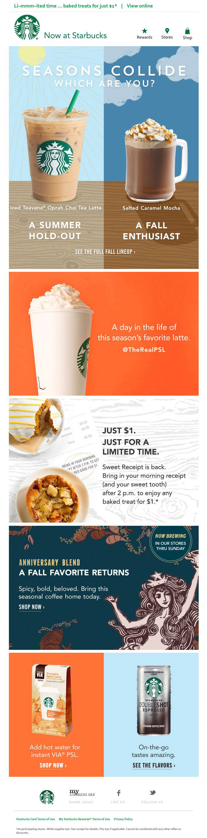 Starbucks Seasons Collide email