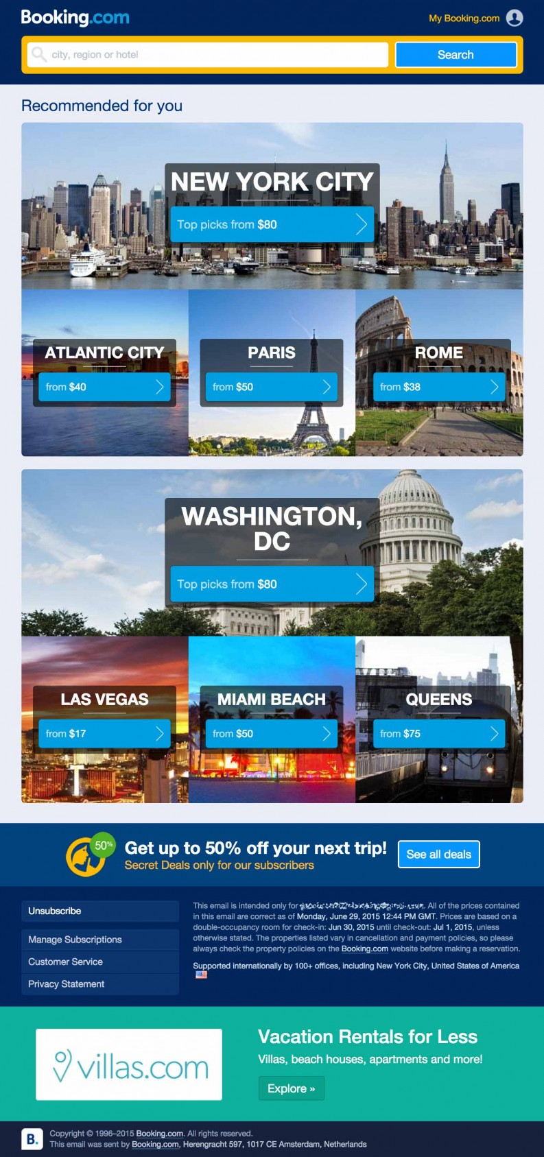 BookingCom Hotel Travel email imarketing