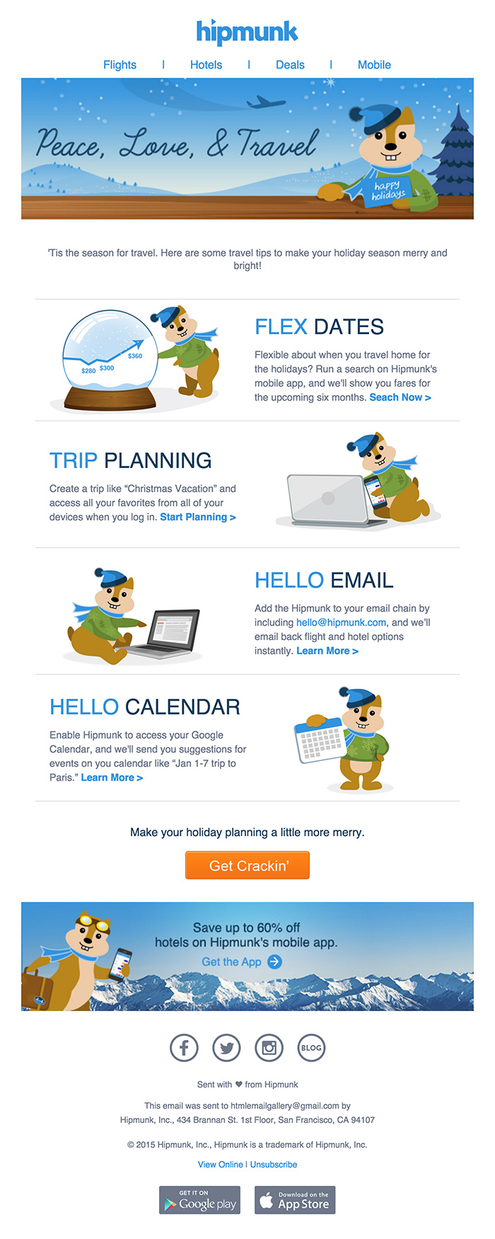 Fun Holiday Travels Email