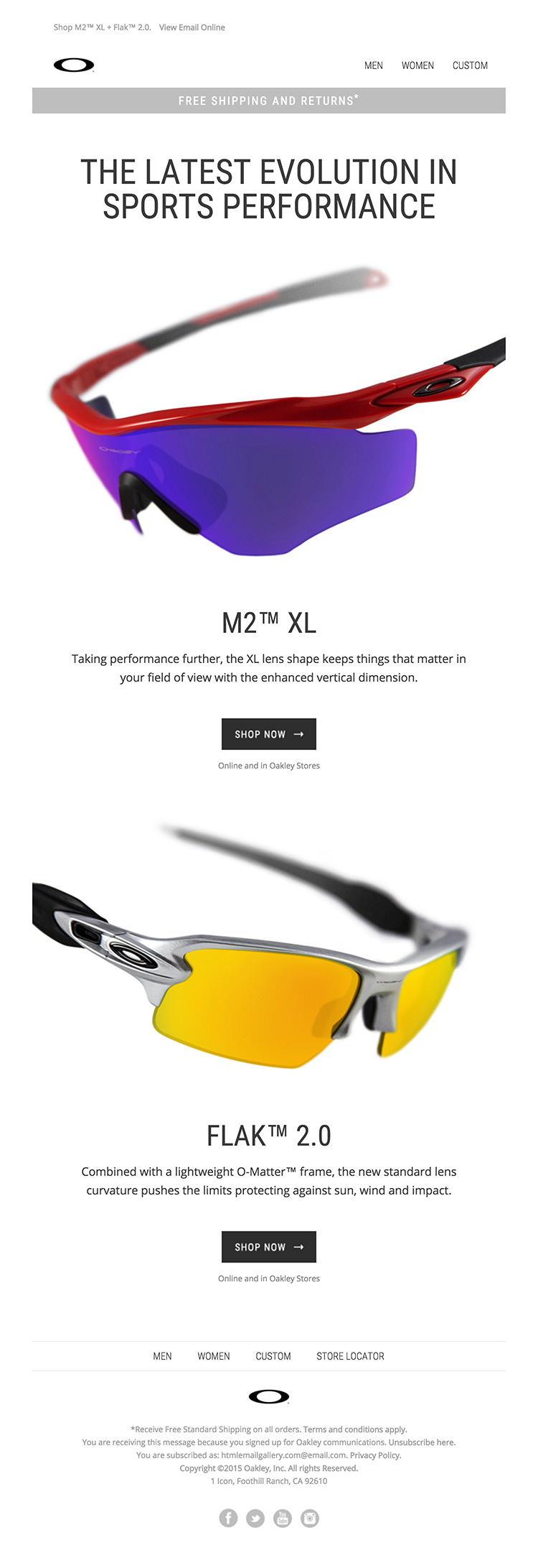 Minimal eCommerce html email design
