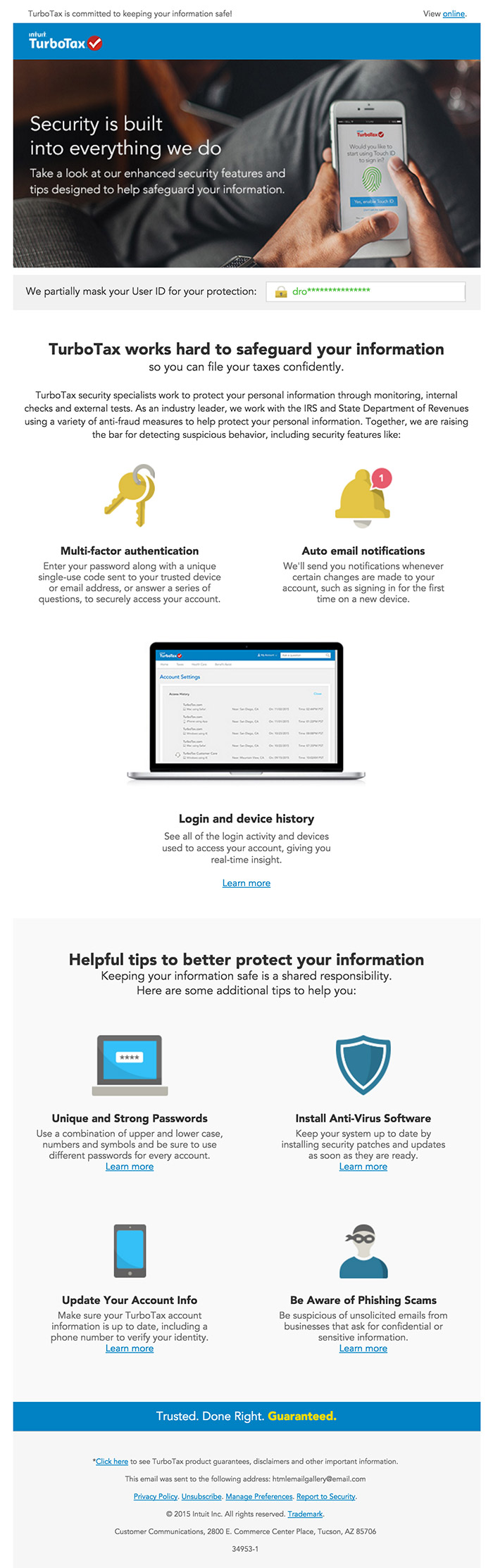 Email Newsletter Design Inspiration Tax
