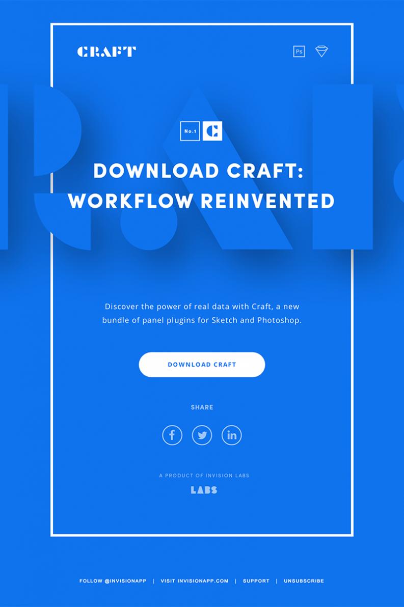 Minimal, clean, blue email design