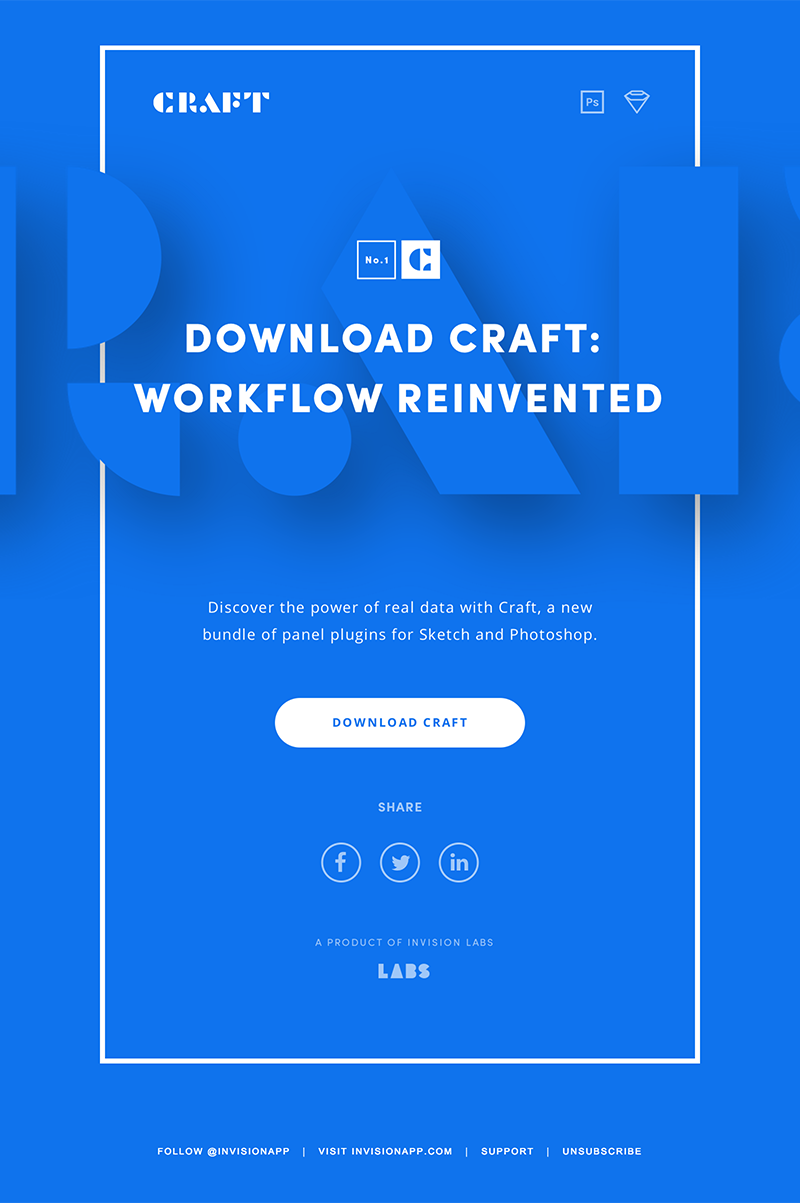 Minimal, clean, blue email design | HTML Email Gallery