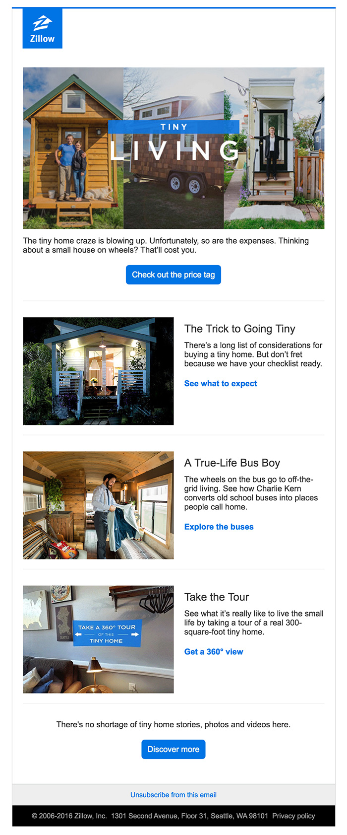Weekly Newsletter Zillow