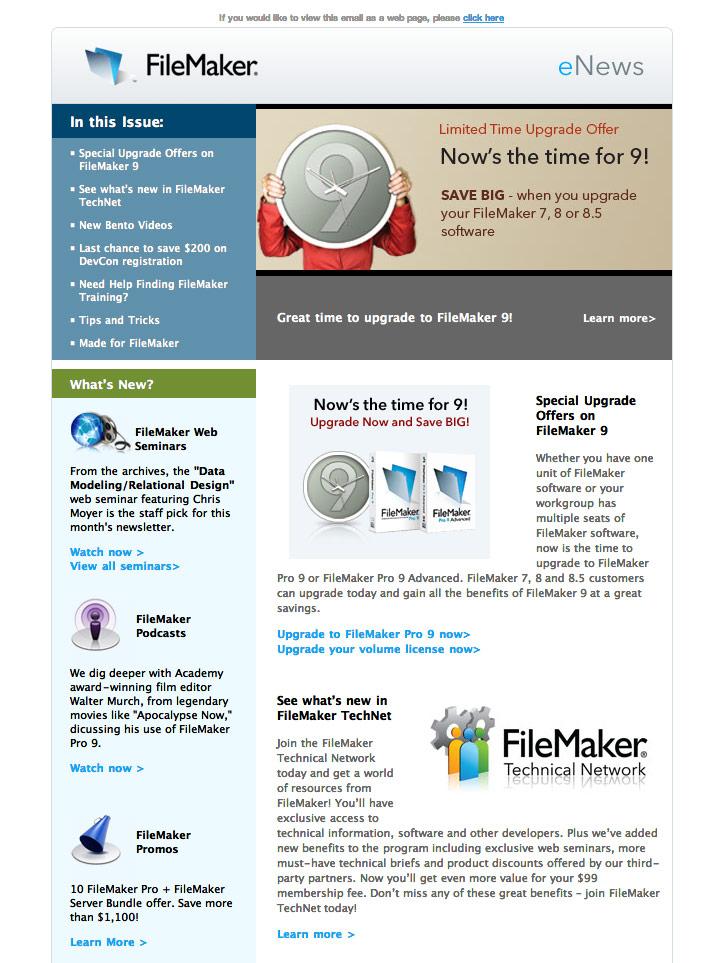 Filemaker-eNews-1 html email