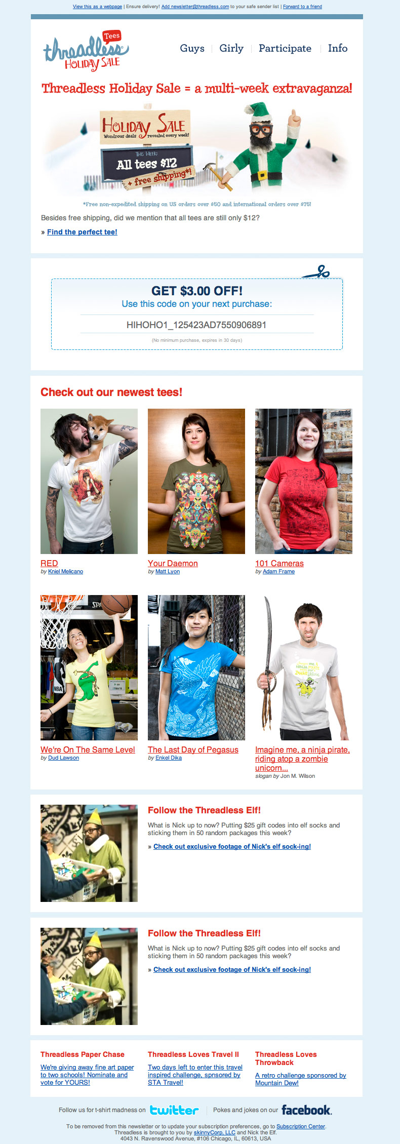Threadless Holiday Sale 2010