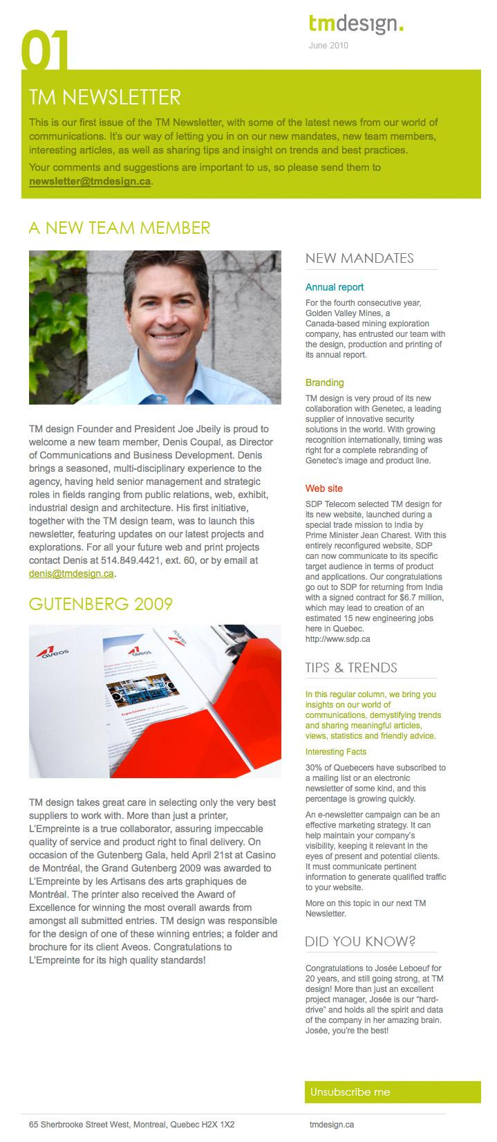 TM Two Column Newsletter