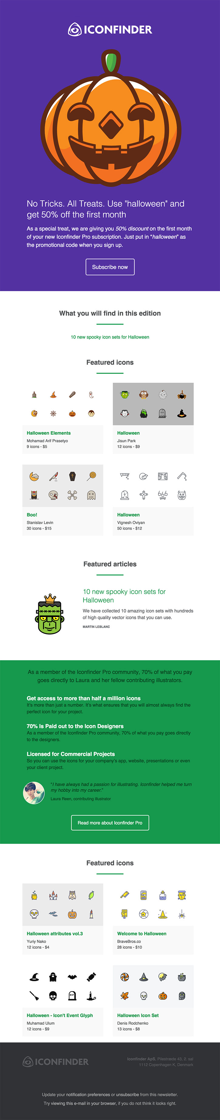 Halloween email design marketing